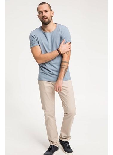 DeFacto Slim Fit Basic T-shirt Mavi